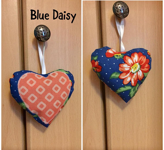 Lavender, Hanging, Hearts, Daisy, Fabric, Sachet, Bags, Decor, Gift
