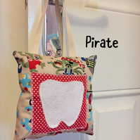 Tooth Fairy, Pillow, Hanging, Pirate, Cars, Cushion, Pocket, Boys Decor