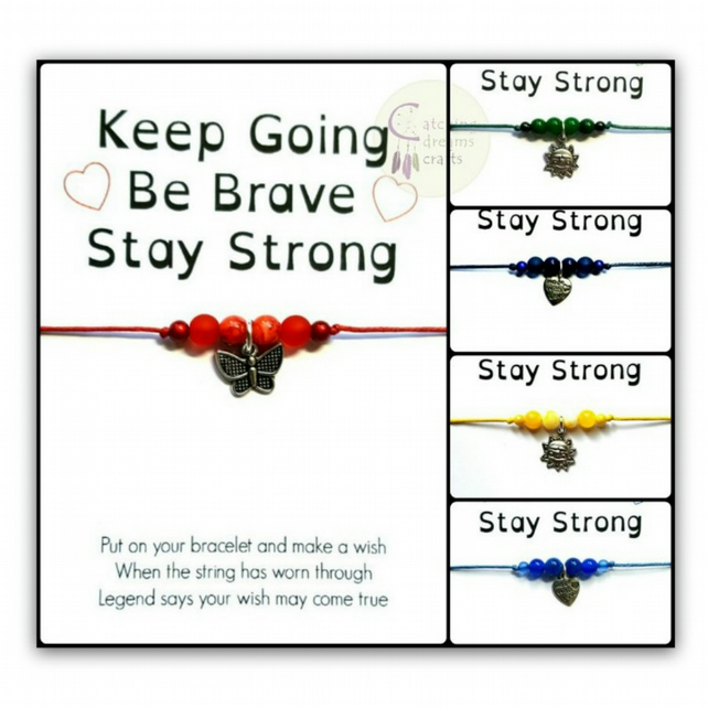 KEEP GOING... Inspirational Adjustable Wish Bracelet