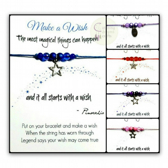 MAKE A WISH... Inspirational Adjustable Wish Bracelet