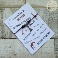 Wish-let, Wish Bracelet - LESSONS FROM A GIRAFFE - Choose colour