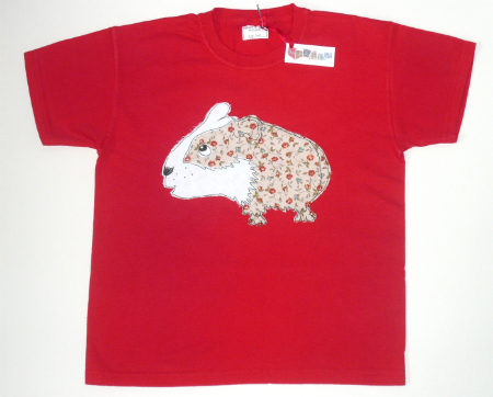 Age 7-8 Children's Guinea Pig T-shirt in Red
