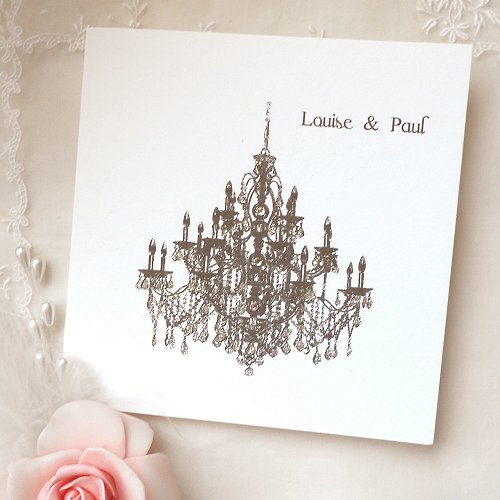 Modern Chandelier Wedding Invitations