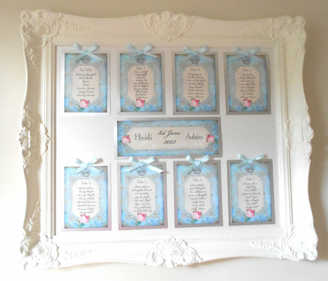Table Plan Wedding Frame Table Plan in Ornate Frame