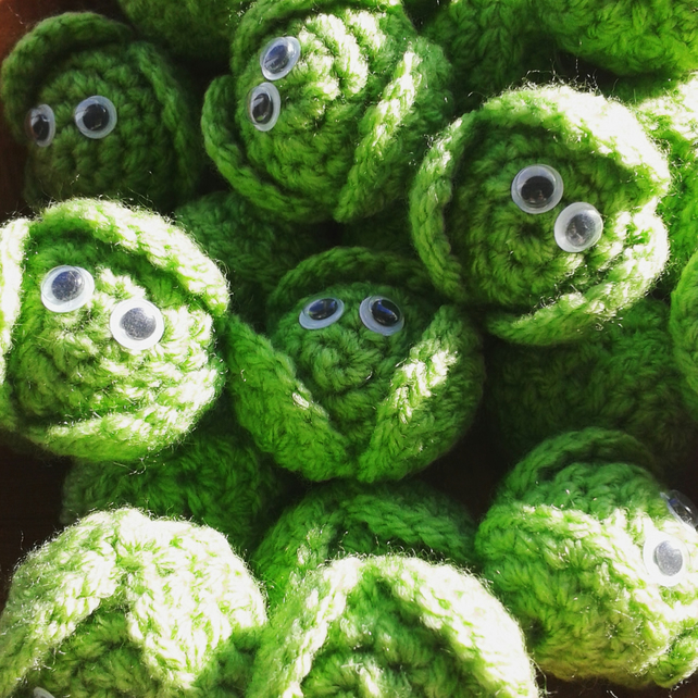 Crochet Christmas Brussels Sprouts Pack x 5