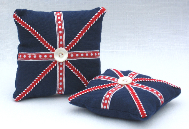 Union Jack, red, white and blue pincushion - Jubilee and Olympics