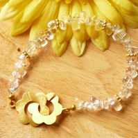 Lemon Quartz Irregular Nugget Bracelet - Genuine Gemstone