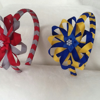 Handmade Back to School hairband - hair clips and bobbles available to match