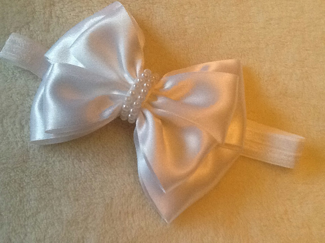 Handmade soft baby headband or Mini fascinator