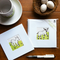 'Trio of Lambs' cards for Springtime (Set of 3)