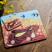 Hare Meadow placemats (set of two)