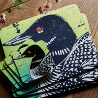 Great Northern Diver (Canadian Loon) placemats (Set of two)