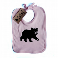 ' Bear Pink' Organic Cotton Bib