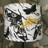 'Moths' Drum Lampshade