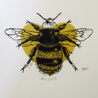'BeeLoved' Limited Edition Print (with donation to Manchester Emergency Fund)