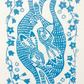 'Hares and Harebells' Easter Lino Print
