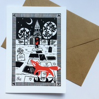'Meet Me At The Cemetery Gates' foxes card