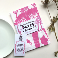 Foxes and Foxgloves Organic Cotton Tea Towel