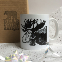 Moose Large Ceramic Mug