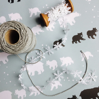 Bear Family Christmas Charity Eco Wrapping Paper (100% Recycled)
