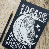 'Ideas of the Midnight Hour' A5 Notebook