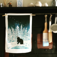 Stargazey Bear Cotton Tea Towel