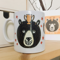 'You Did It!' Bear Ceramic Mug (Exams, Tests or Results Present)