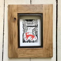 'Fox On The Green' Giclee Lino Print