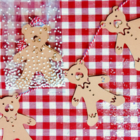 Gingerbread Bear Christmas Bunting