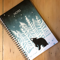 'Stargazey Bear' notebook with 2019 calendar