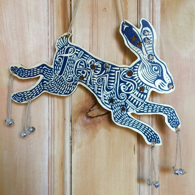 Lepus Hare Constellation Wooden Laser Cut Decoration