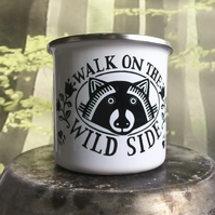 Walk On The Wild Side Enamel Travel Mug