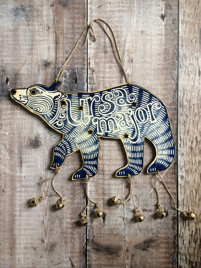 'Ursa Major' Wooden Bear Star Constellation Decoration