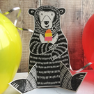 Noko The Sun Bear Fundraiser 3D Greeting Card (Any Occasion) Free UK Postage
