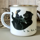 Cikananga Sun Bear Enamel Mug (Donation to charity included)