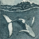 'Whale Dance' Humpback Whale original etching
