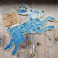 Lepus Hare Star Constellation Wooden Laser Cut Decoration