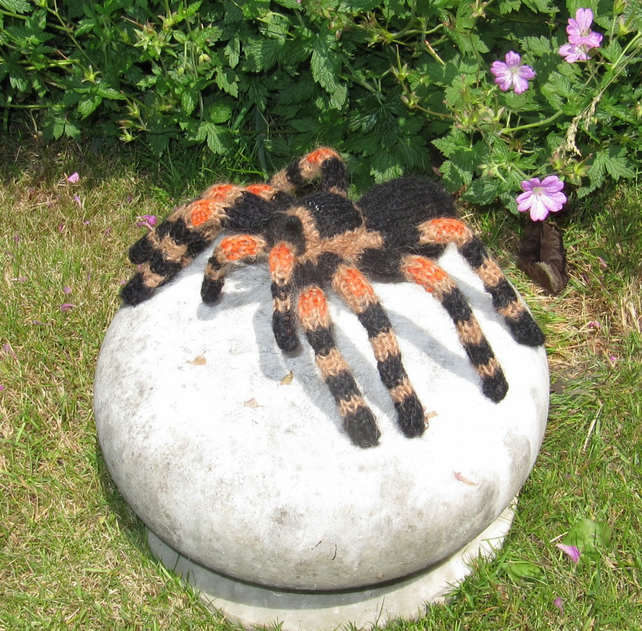 Spider Knitting Pattern : My Pet Tarantula Toy Spider knitting pattern pd... - Folksy