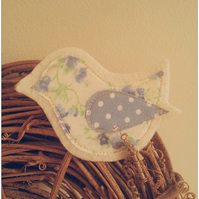 Springtime Bird Brooch - Blue