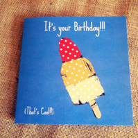 Fun Rocket Lolly Birthday Card