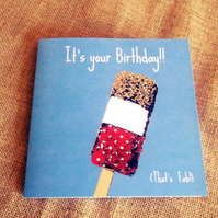 Fun Fab Lolly Birthday Card