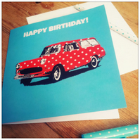 Retro Car Birthday Card