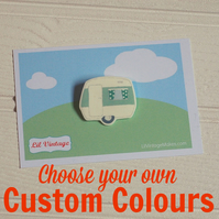 Vintage Caravan Brooch - Custom Colour