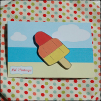 Rocket Lolly  Brooch