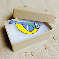 Blue Tit Bird Brooch