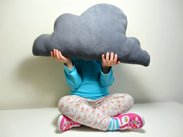 CLOUD CUSHION PILLOW Grey - Lovely and Soft FLEECE