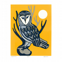 Tyto - Limited Edition Screenprint (yellow-gray)