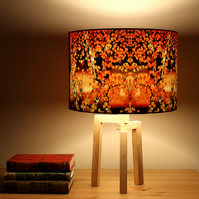Autumn Birch Drum Lampshade by Lily Greenwood
