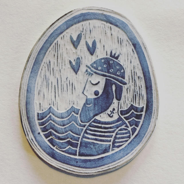 Lovely Fisherman Wall Plaque
