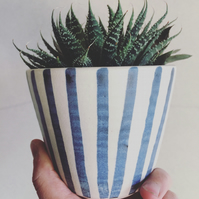 Stripy Pot